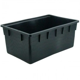 Deposito 90L rectangular con asideros, negra (79x47x30)
