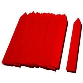 Etiqueta PVC 16x100mm rojo (500uds)