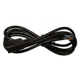Cable 3x2,5 Negro Plug & Play Macho
