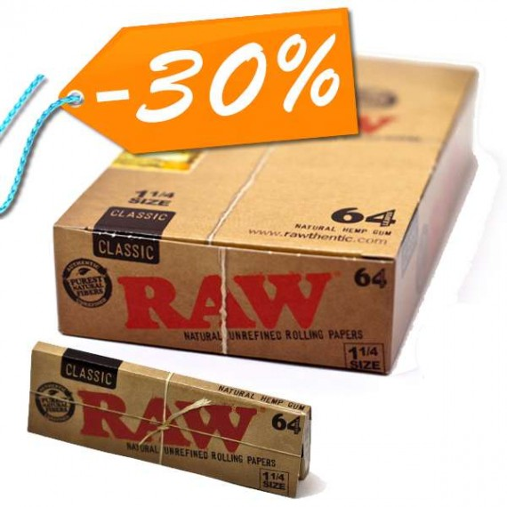 Raw Classic 64 1/4 packs 64hojas