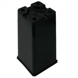 Maceta cuadrada 12x12x20  Negra  2L (90ud)