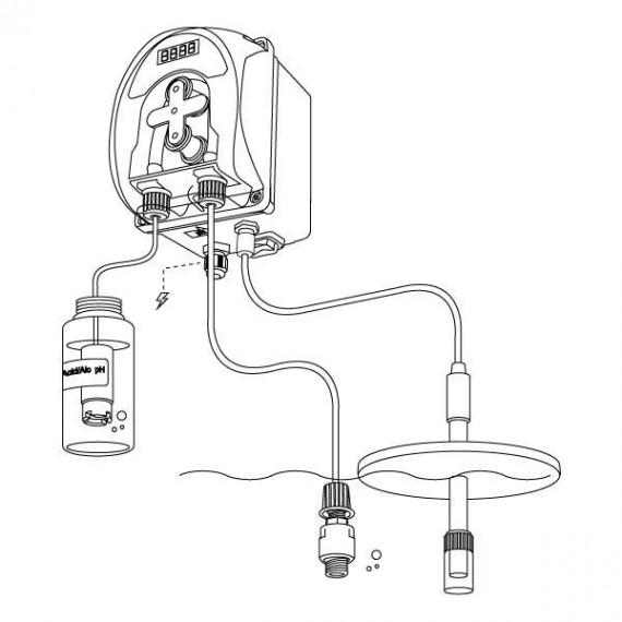 Bomba peristaltica PH c/sonda