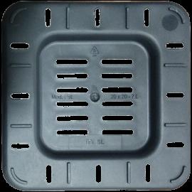 Maceta cuadrada 18x18x23 Ecomagic 5L Negra (45ud)