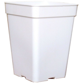 Maceta cuadrada 18x18x23 Ecomagic 5L Bl. Opaco (50ud)